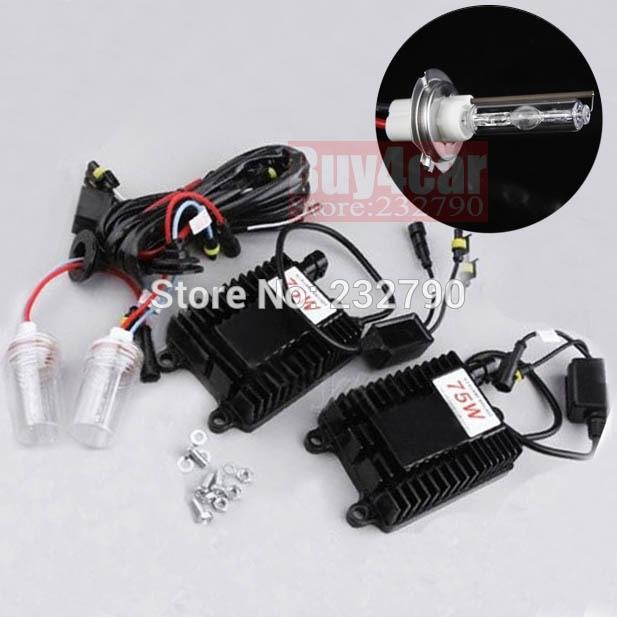 88.49$  Buy now - http://alikfm.worldwells.pw/go.php?t=1501573482 - Bright Car Headlight HID Conversion 12V 75W H7 4300K XENON KIT Globe Single Beam Replacement Lamp Kit 88.49$