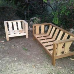 Outdoor Sofa Plans Sloped Backrest