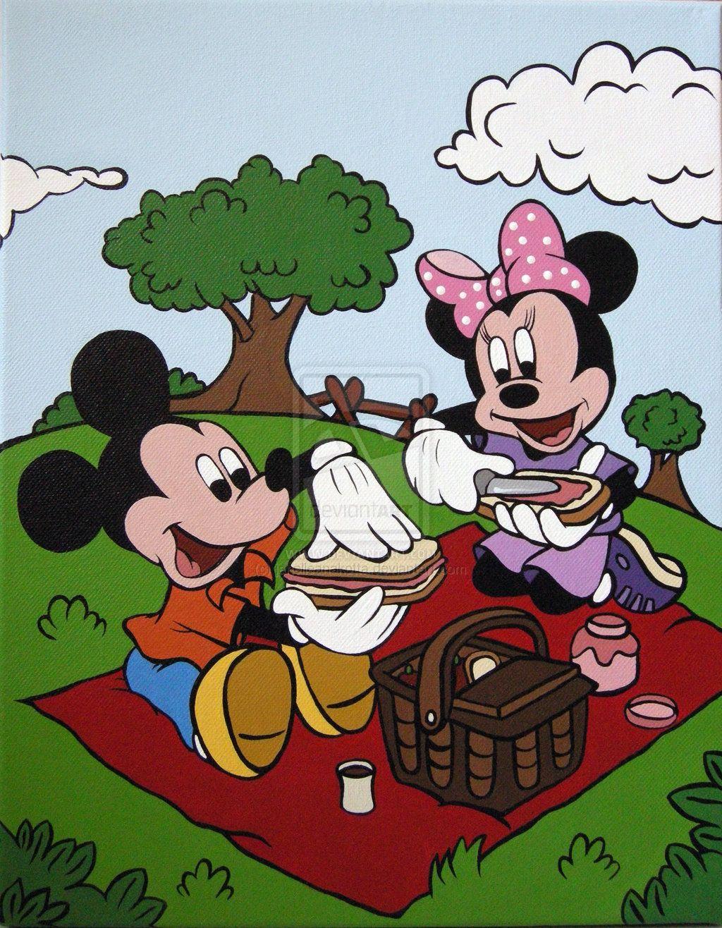 Mickey and Minnie Picnic by janelleanakotta on deviantART  Minnie