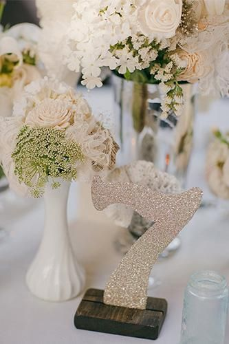 Hollywood Glam Wedding Table Number Glitter Glamwedding Tablenumber Hollywoodglam Weddings