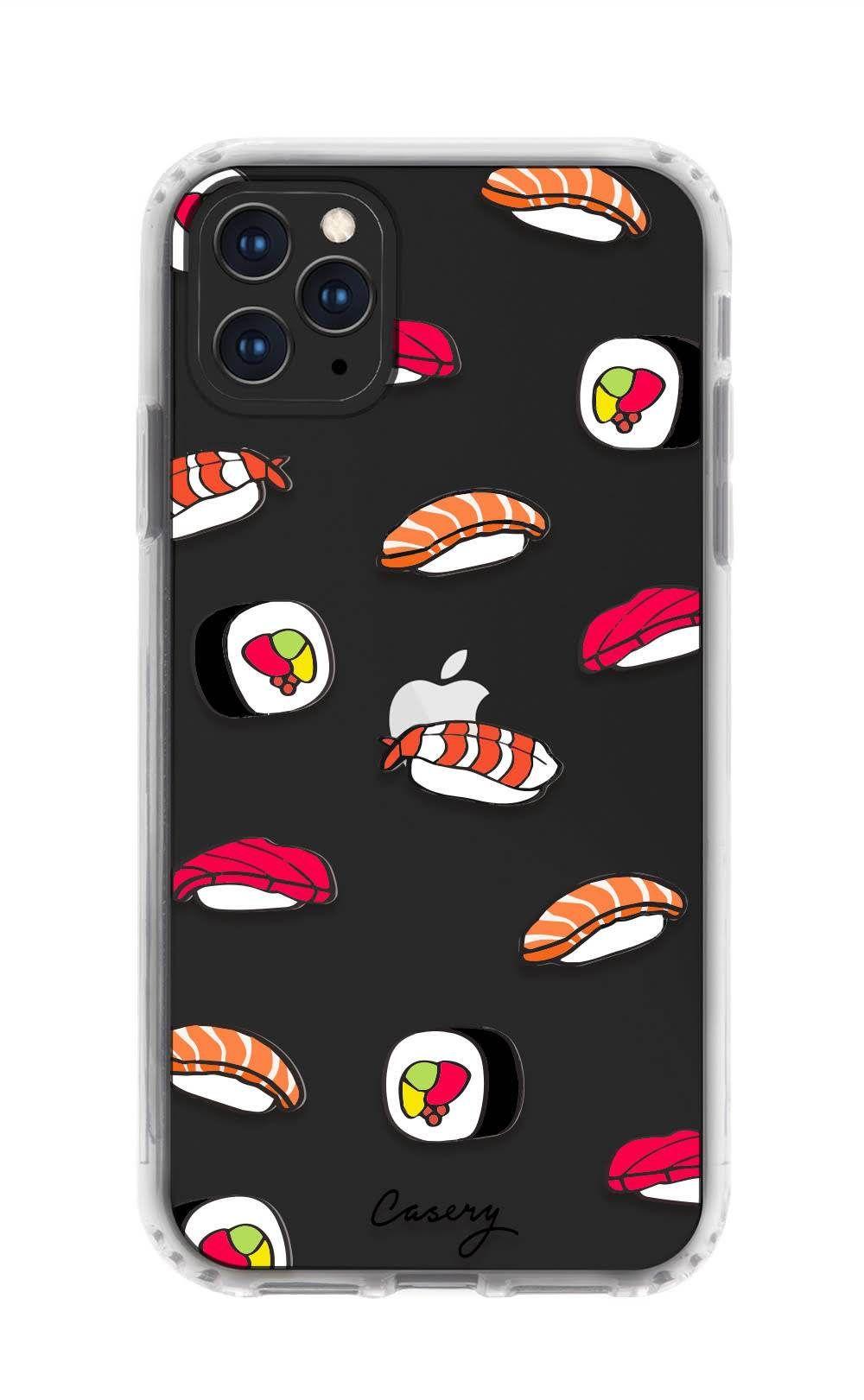 Sushi Clear iPhone 11 Pro Max Case Cute