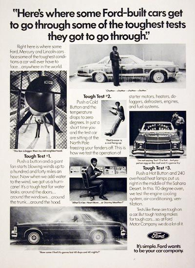 1977 Ford Motor Company Testing Bill Cosby Classic Vintage Print Ad Ford Motor Ford Motor Company Car Advertising