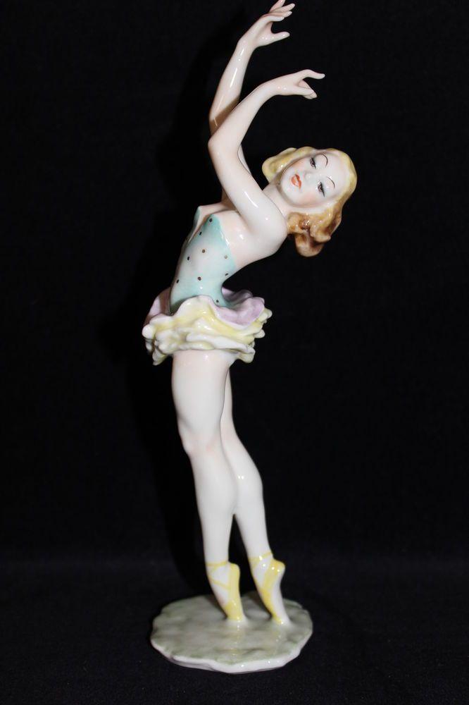 Rare Hutschenreuther porcelain figurine Ballerina Dancer Achtziger china figure #Figurines
