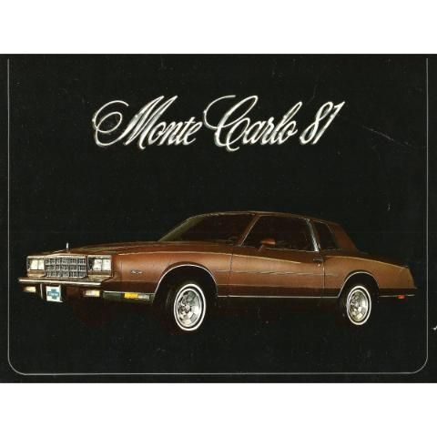 Chevrolet Monte Carlo 1981 Catalogo Publicitario Original