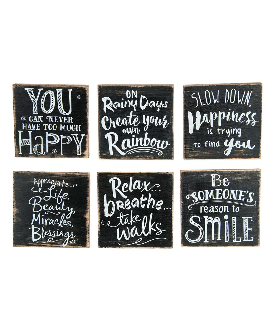 Loving this Happy Life Magnet - Set of Six on #zulily! #zulilyfinds