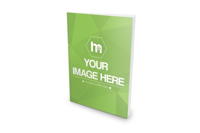 3d Mockup Of A Thin Book Or Magazine Standing On A White Isolated Background Showcase Your Book Or Magazine Designs With A Realisti Book Template Mockup Books