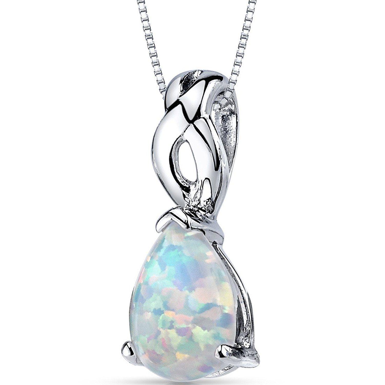 Revoni Opal Pendant Necklace Sterling Silver Round Shape 0.50 Carats V2lDS5lk6