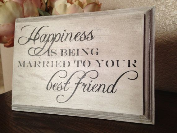 30th Wedding Anniversary Gift Ideas For Friends: Happiness Is Being Married To Your Best Friend Wood Sign