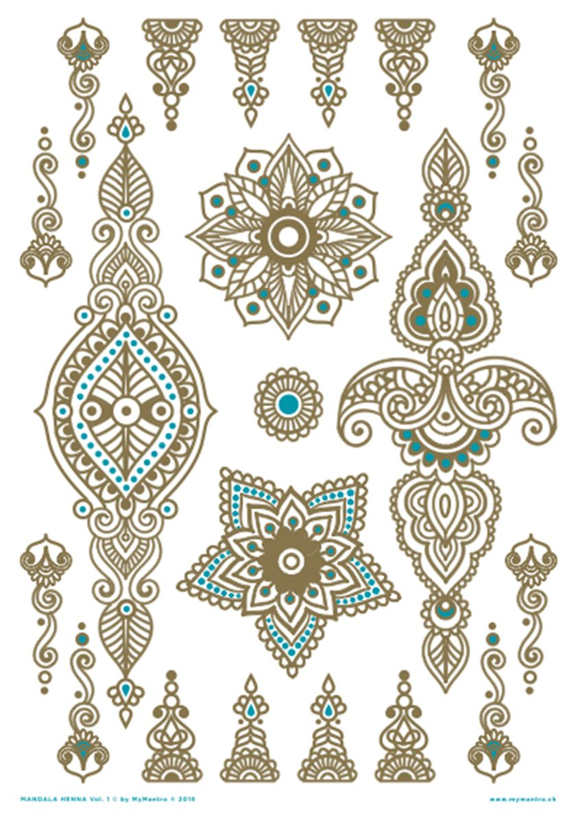 mandala henna vol 1 tattoo pinterest tattoo ideen und ideen. Black Bedroom Furniture Sets. Home Design Ideas