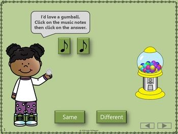 Music Time with Same and Different Interactive Music Game | music ...