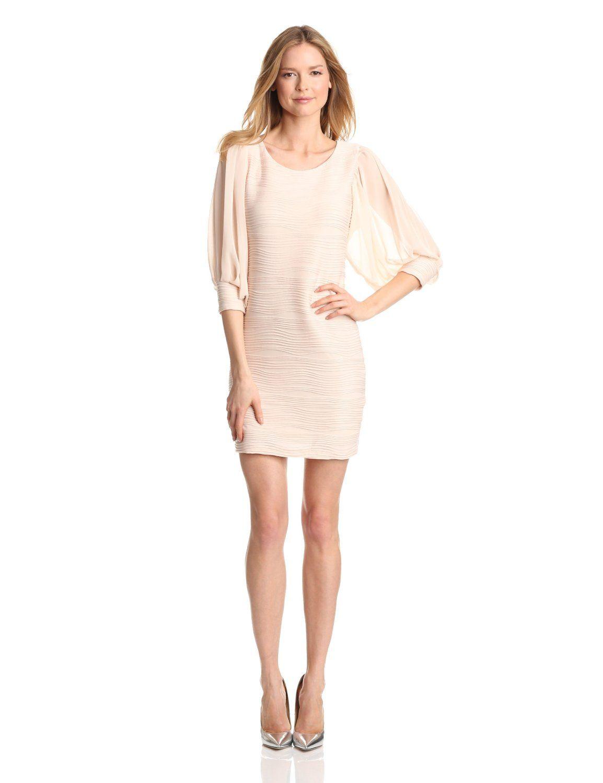 Gabby skye womenus sheer long sleeve dress womens fashion