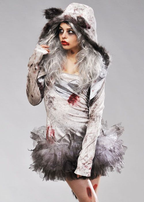 Womens Grey Bloody Werewolf Costume  sc 1 st  Pinterest & Womens Grey Bloody Werewolf Costume | Halloween | Pinterest ...