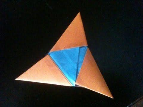 How To Make a Paper Ninja Star (Shuriken) - Origami | Remake - YouTube | 360x480