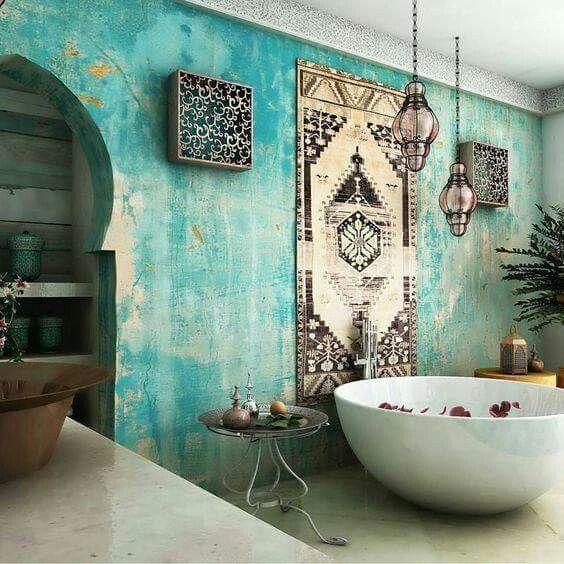 American Hippie Boheme Boho Lifestyle Bathroom Bohemian