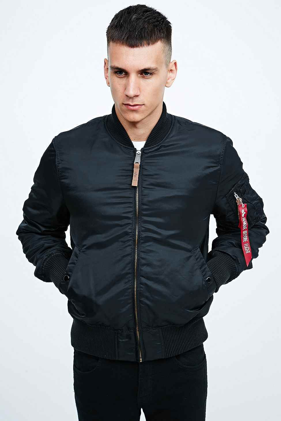alpha industries ma1 valor flight bomber jacket in black. Black Bedroom Furniture Sets. Home Design Ideas