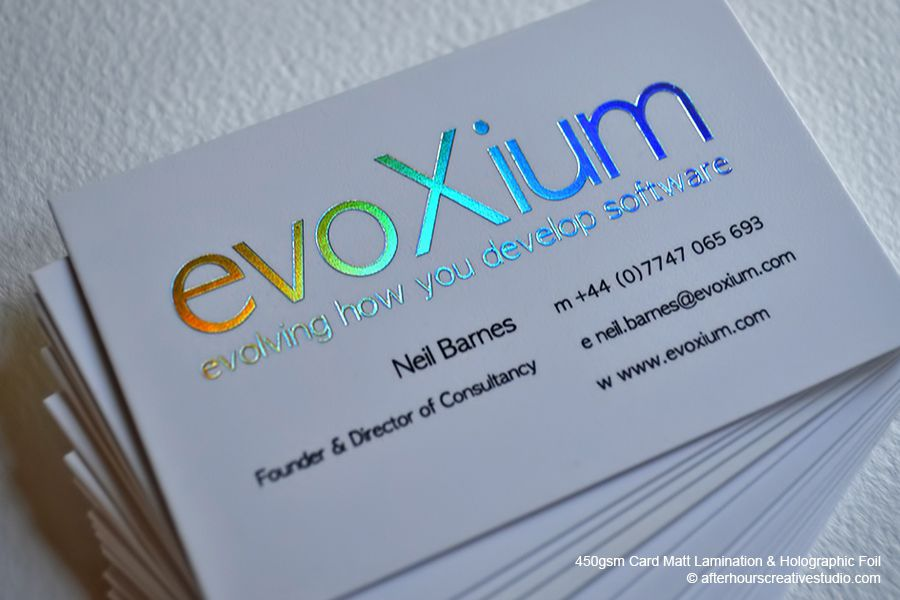 Holographic Foil Business Card | Evoxium | Business Cards ...