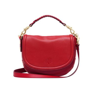 866e7be003d2 Mother s Day Gift Ideas - Mulberry - Small Effie Satchel in Bright Red  Spongy Pebbled