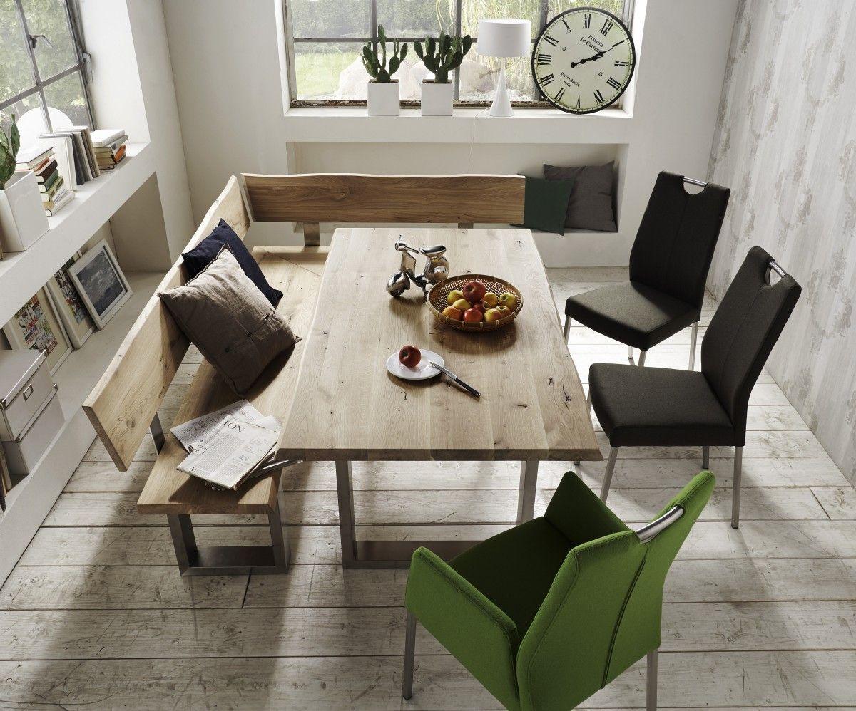 Faszinierend Tisch Esszimmer Foto Von Eckbank Eckbankgruppe Wildeiche Massiv Geölt Organisch Baumkante