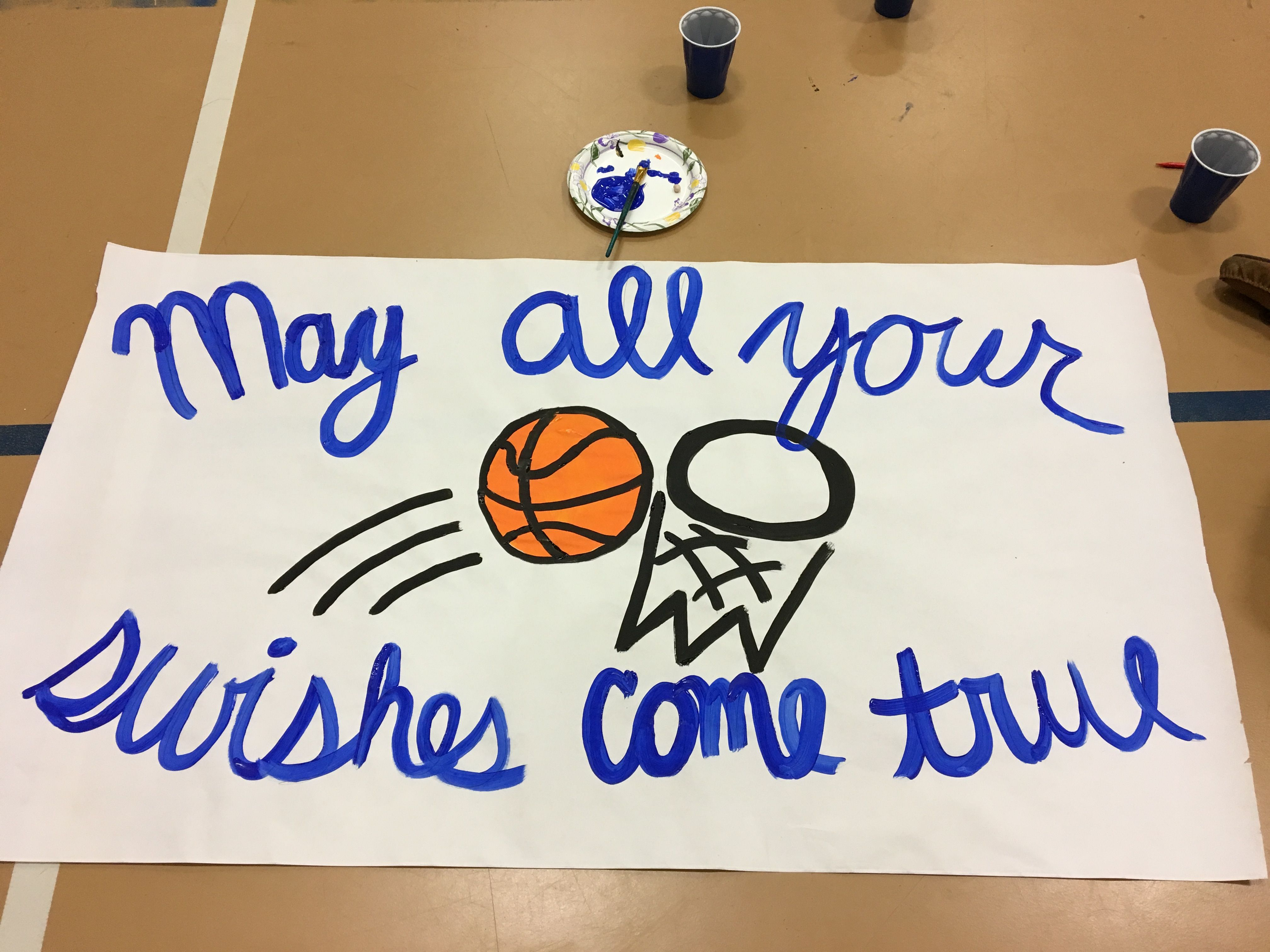 2a9ff6e4ea0d3 May all your swishes come true, basketball sign, cheer sign ...