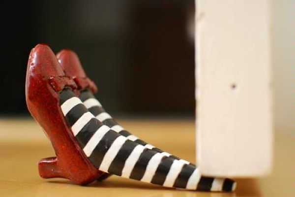 Wicked witch of the East Doorstop