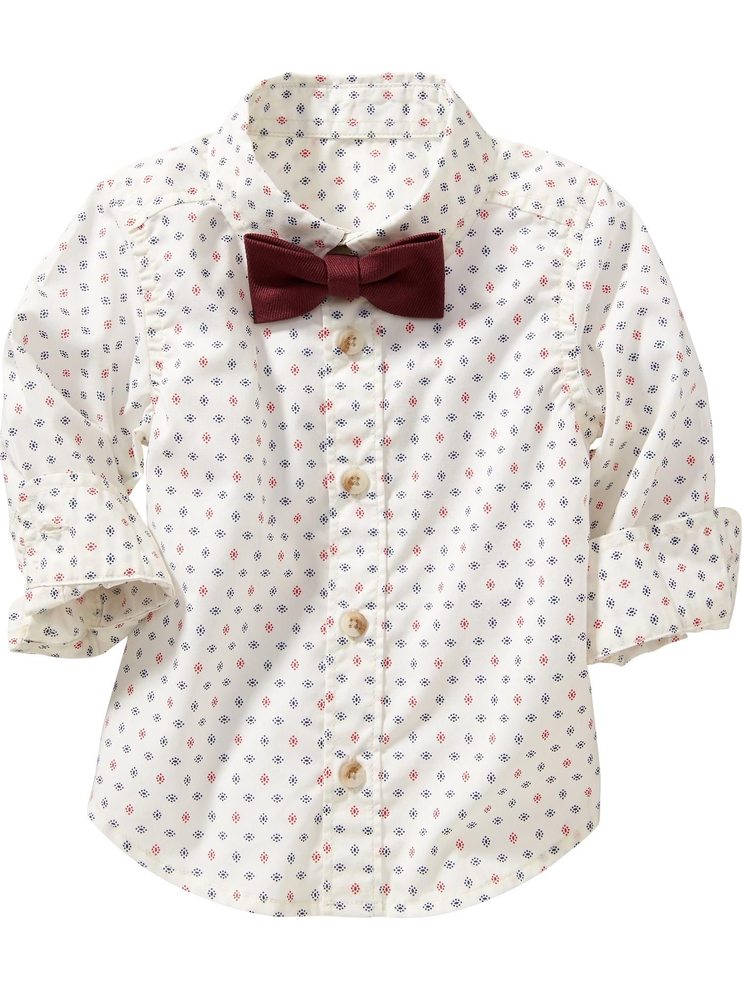 Old Navy   Printed Shirt & Bow-Tie Set for Baby // Christmas photo ...