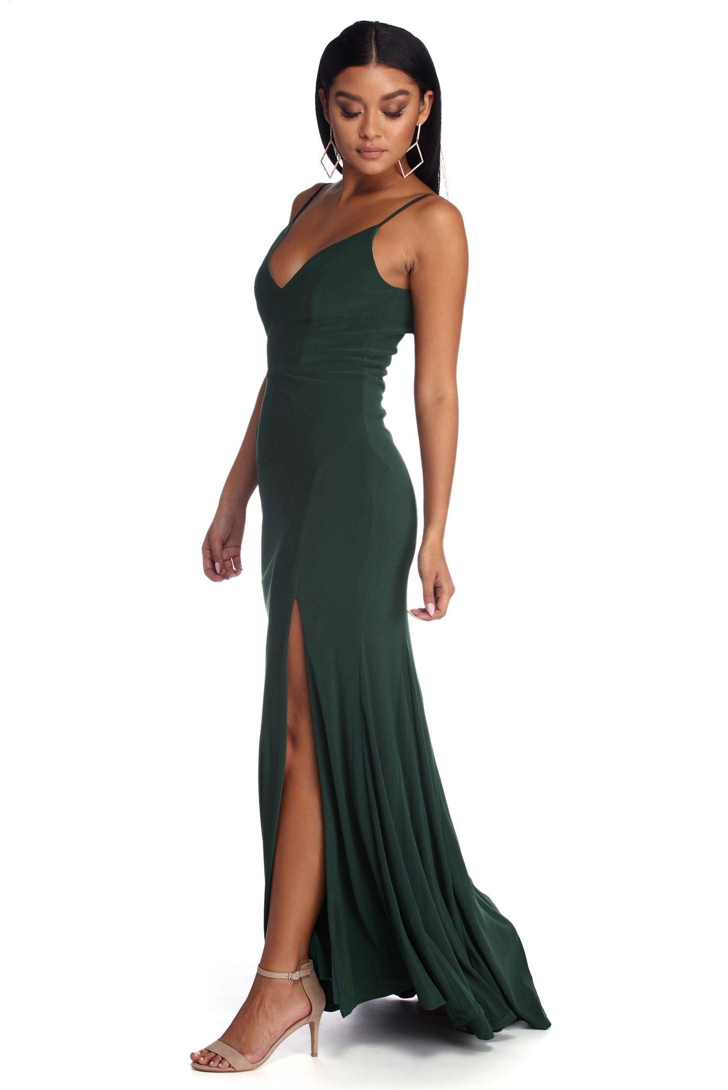 aa5c38749a2e Addie Formal High Slit Dress | prom dresses | High slit dress, Slit ...