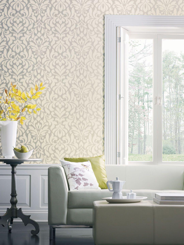 Candice Olson Shimmering Details Whisper Wallpaper by York