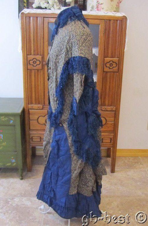 Antique 1860/70s Wedding Dress Worn by Elizabeth Bigelow Woods Cape Trail