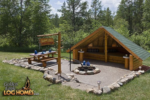 Outdoor Fire Pit Shelter : Custom eagle prow fire pit hut how cute is this