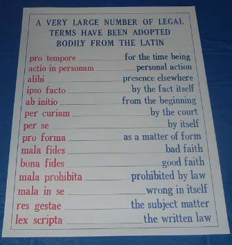 Legal Terms Poster Law School Organization Law School Life Law