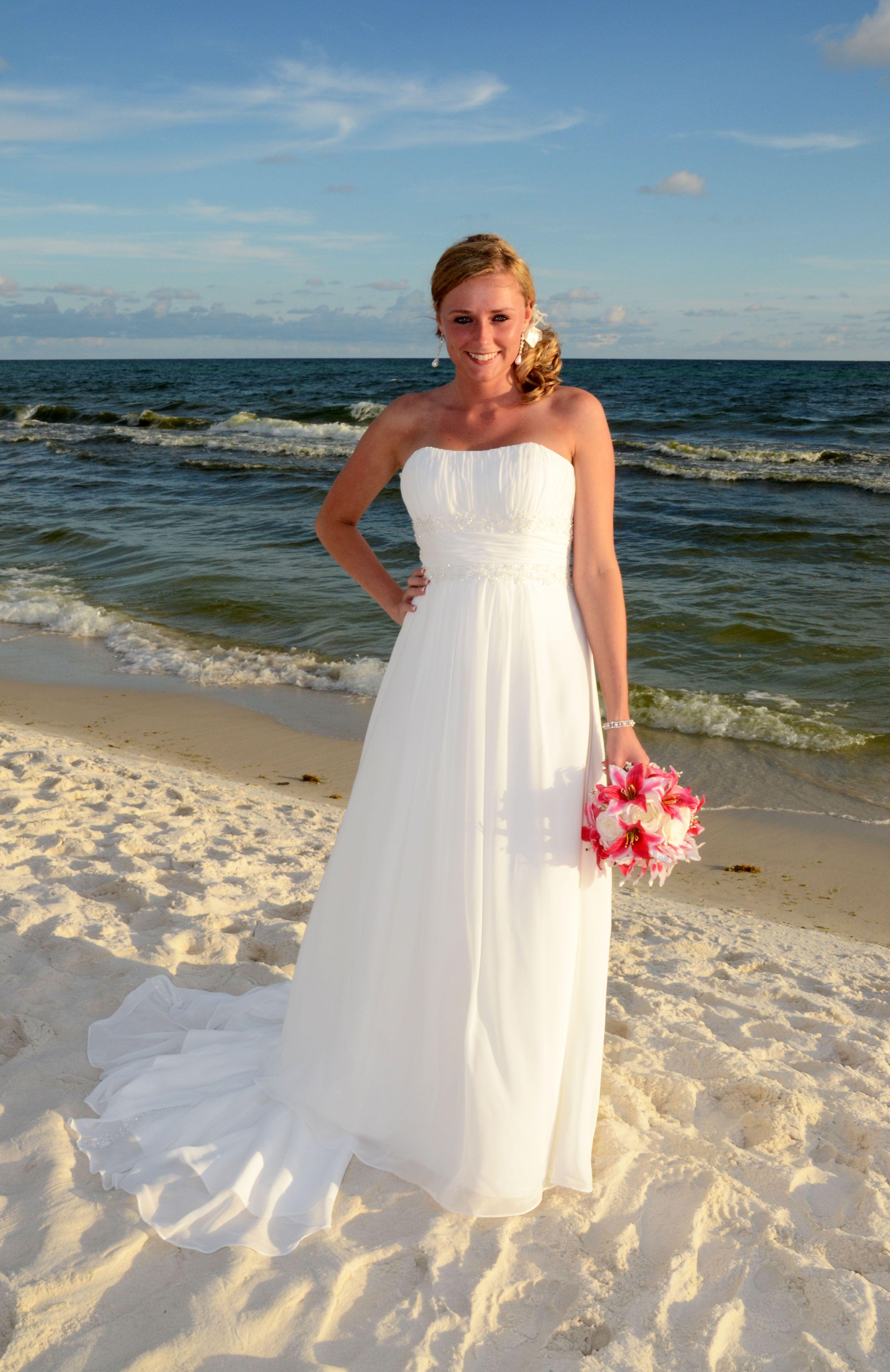 Cute dress, hair, bouquet! Panama City Beach FL, July 2011