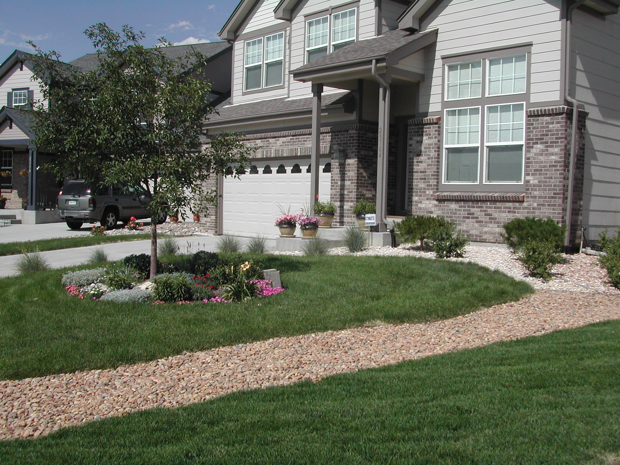 Home Improvement Projects Rock Drainagefront Yard