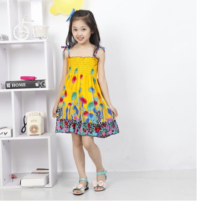 eb8df10c248 Summer Style Butterfly Girl Dress Bohemian Dress For Girls Princess Dresses  Baby Girls Clothing Cotton Kids vestidos4