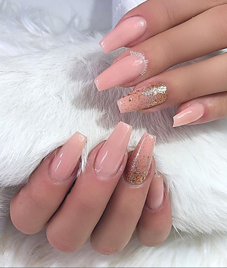 53 Chic Natural Gel Nails Design Ideas For Coffin Nails Natural Gel Nails Gel Nail Colors Long Gel Nails