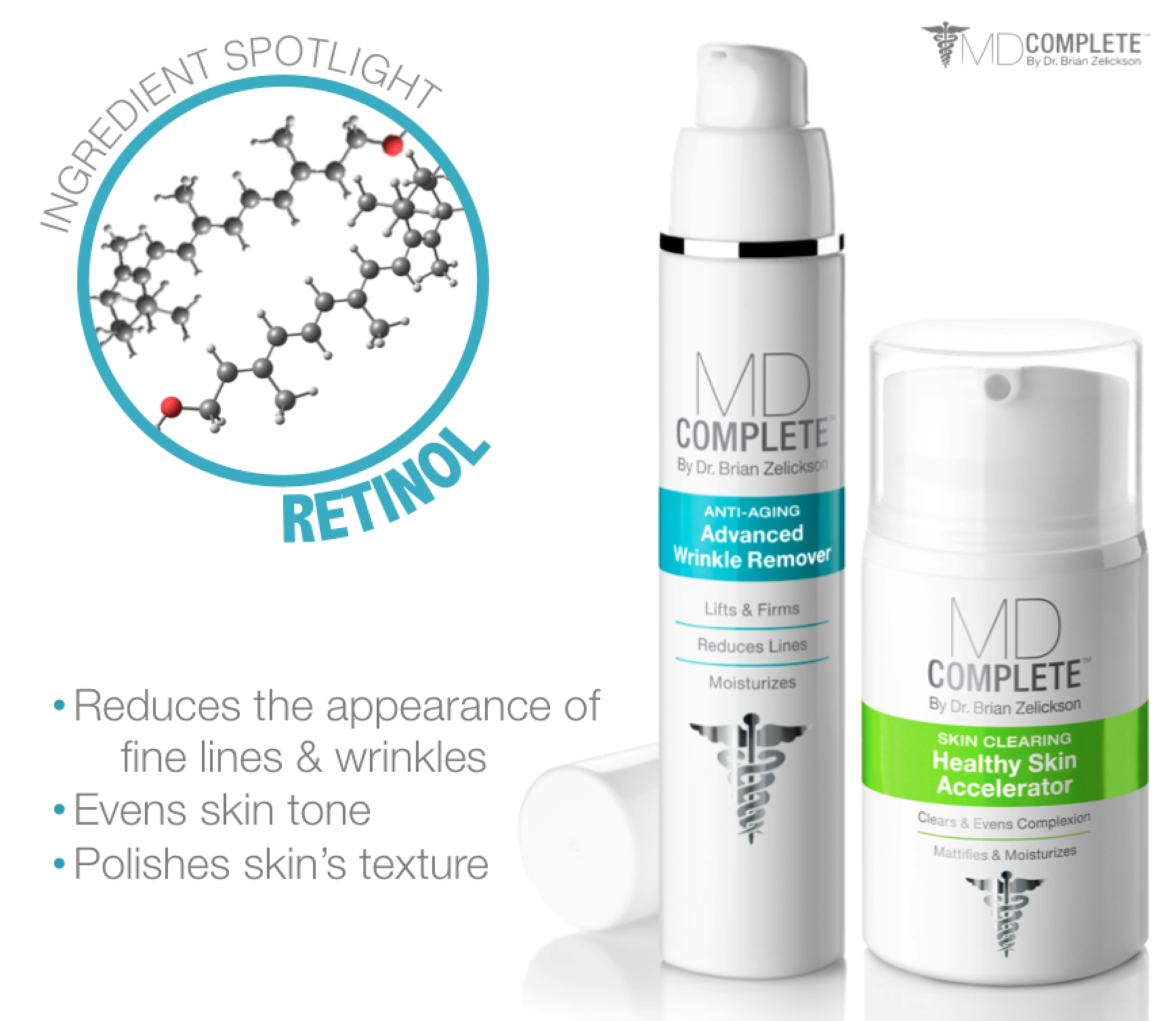 Md Complete Ingredient Spotlight Retinol A Multitasking Ingredient In Both Our Advanced Wrinkle Remover And Even Skin Tone Clear Healthy Skin Wrinkle Remover