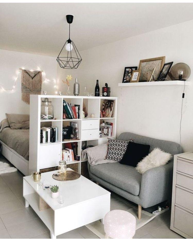 Pin By Joanna Sturgulewska On Studio Apartment Design Beautiful Dorm Room Dorm Room Decor Apartment Room