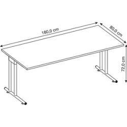 Photo of Hammerbacher Ns19 desk gray rectangular Hammerbacher