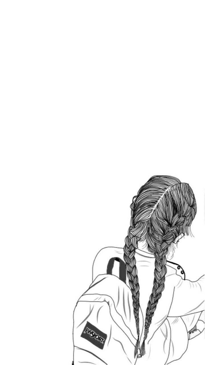 ปักพินโดย Crismary Robles ใน Iphone wallpapers | Tumblr girl drawing Tumblr outline และ Tumblr ...