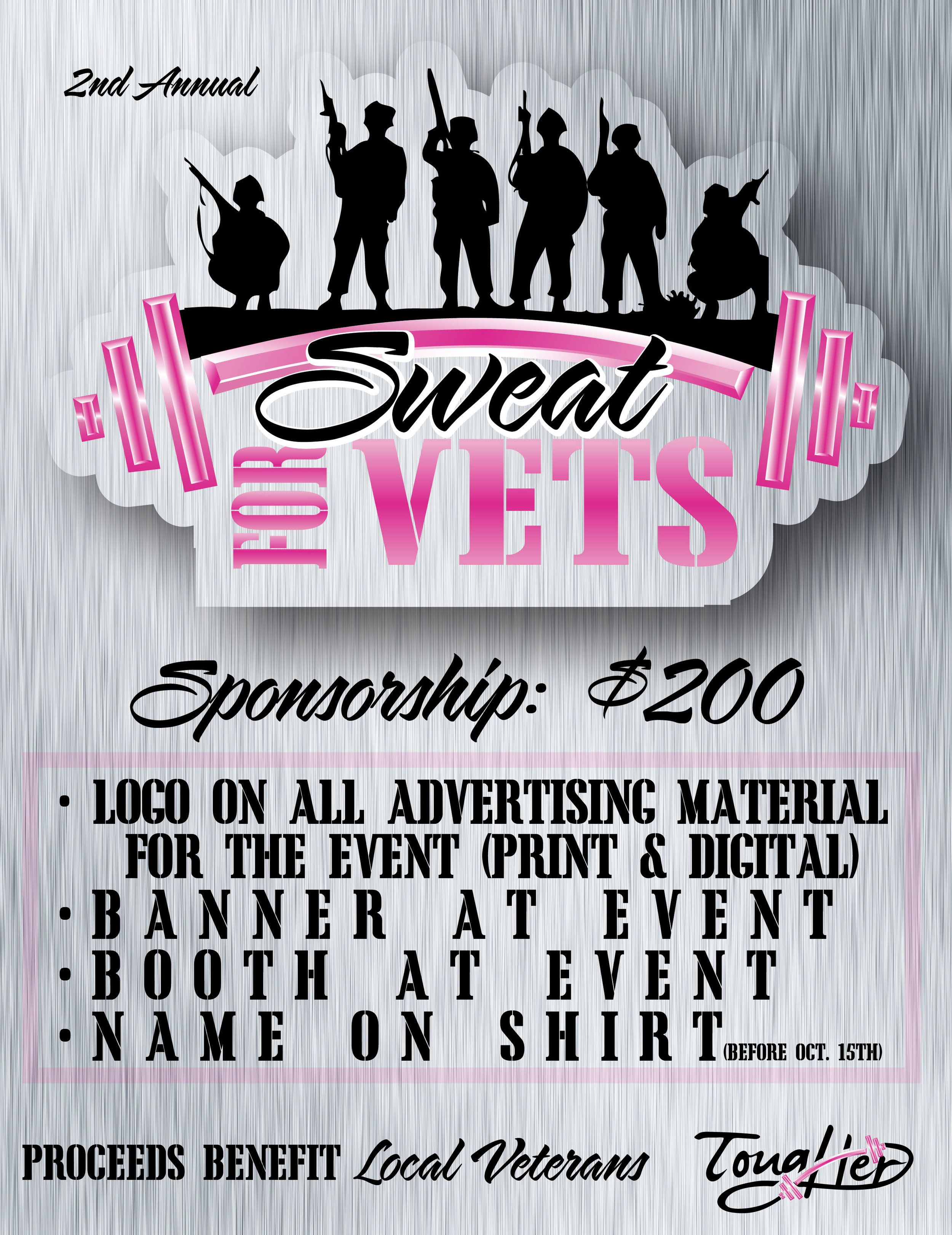 Sweat For Vets Sponsoship Sweat Advertising Material How To Raise Money