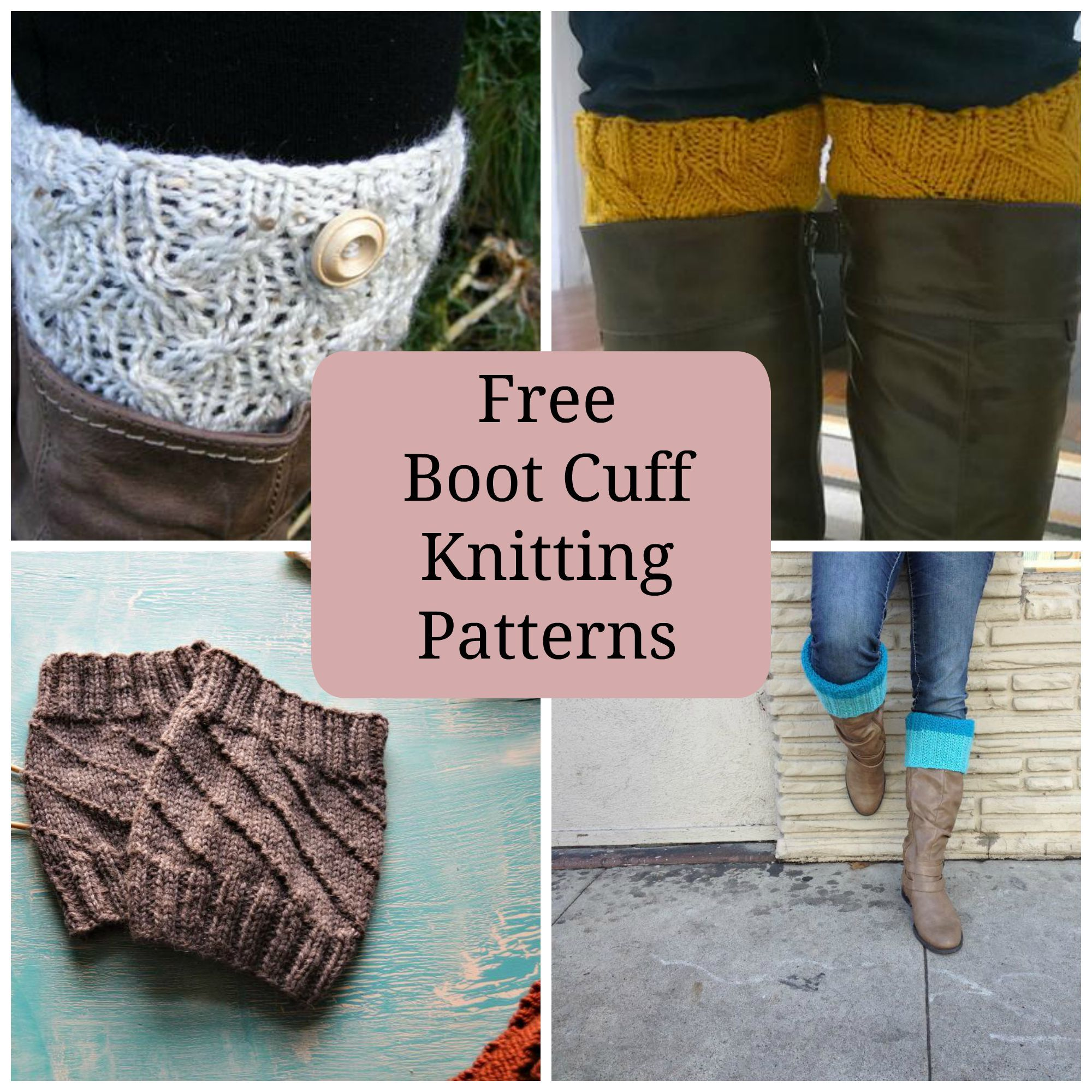 8 Quick & Free Knitted Boot Cuffs | Knit patterns, Patterns and Winter