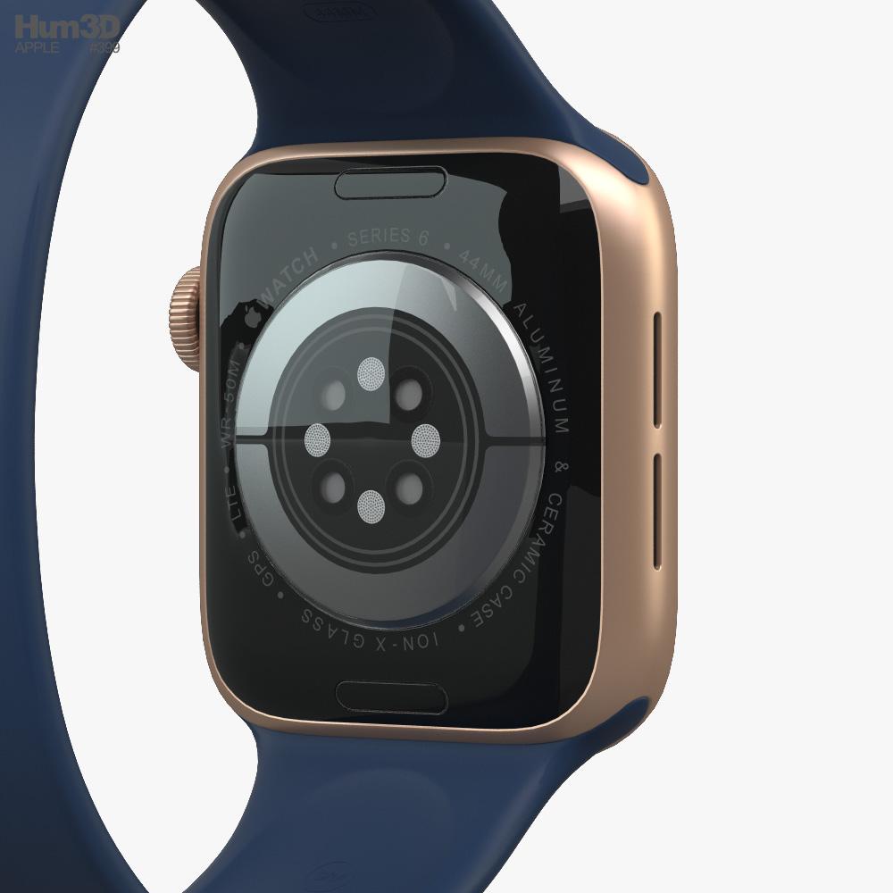3d Model Of Apple Watch Series 6 44mm Aluminum Gold Apple Watch Apple Watch Series Smart Watch Apple
