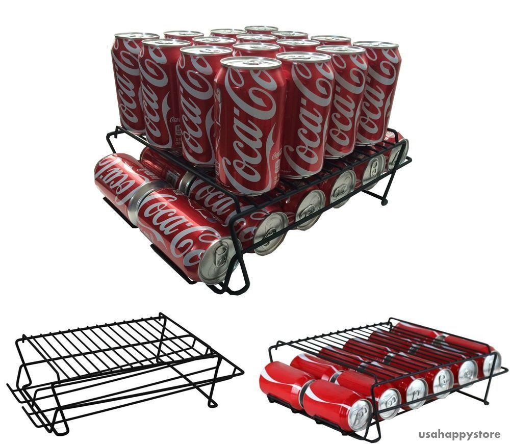 Can Beverage Rack Organizer Holder Stand Storage Cabinet ...