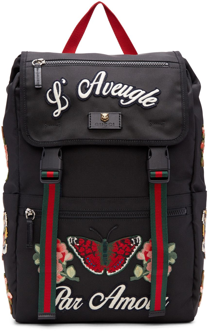 ec5d85d9f8f62e Gucci - Black 'L'Aveugle Par Amour' Techpack Backpack | Style in ...