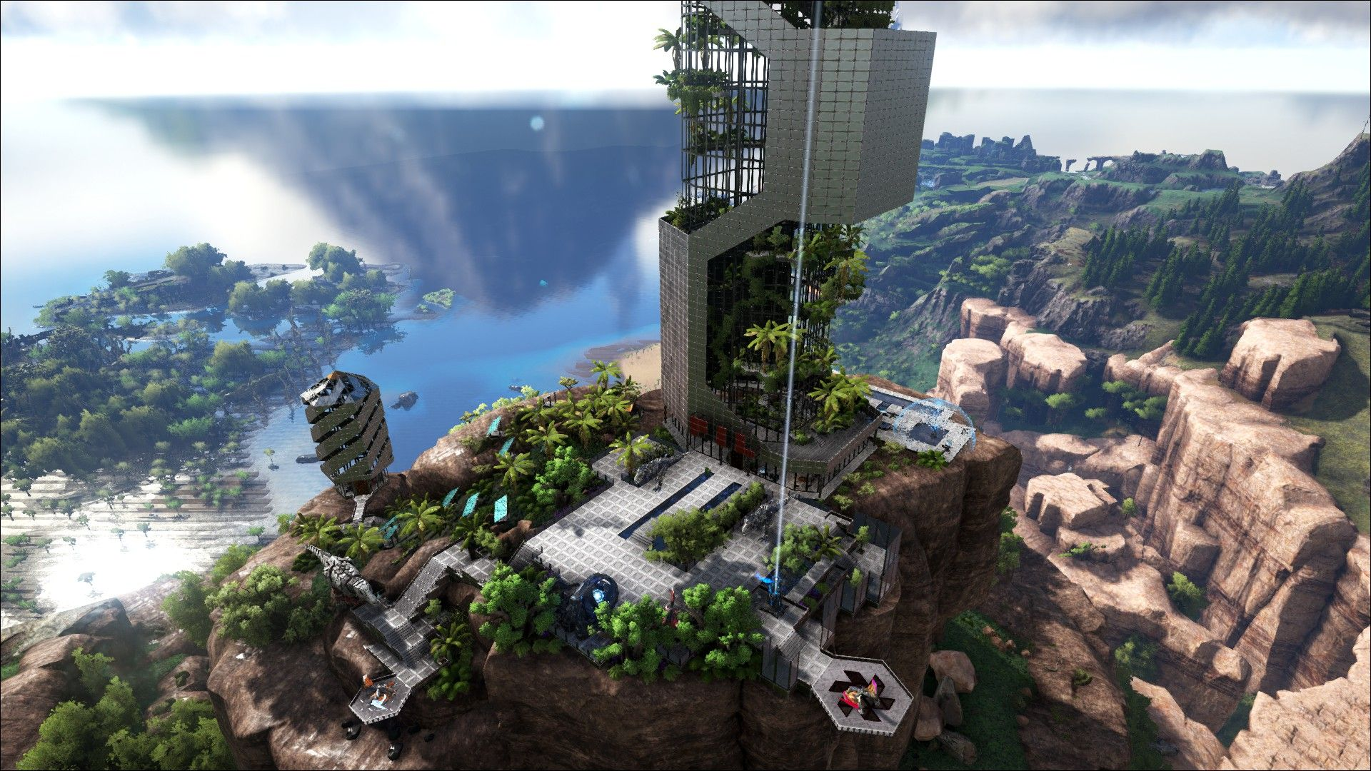 Ark Survival Evolved Tek Base Design Tek Skyscraper Ark Ark