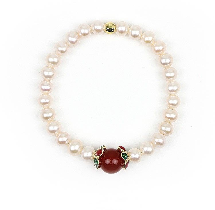 Aliexpress.com : Buy Akarma Red Agate Natural Pearl Bracelets Sterling Silver Jewelry New Arrive Bracelets Unique Design Bead Bracelet Pulseras gift from Reliable jewelry silver bracelets suppliers on Akarma Natural Pearl Jewelry Co., Ltd | Alibaba Group