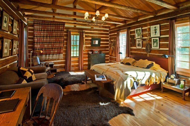 intérieur d\'une maison en bois | Fustes et chalets en 2019 | Chalet ...