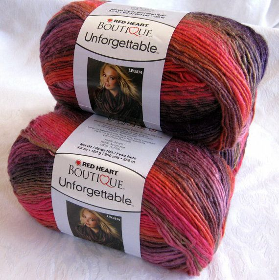 Red Heart Boutique Unforgettable yarn in WINERY, amazing colour ...