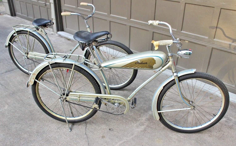 Vintage 30s Indian Bicycles Bicycle Old Bicycle Rat Rod Bike