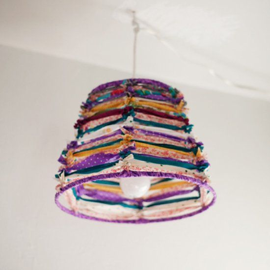 Create a cute lampshade with just fabric scraps and a wire lampshade create a cute lampshade with just fabric scraps and a wire lampshade frame greentooth Gallery