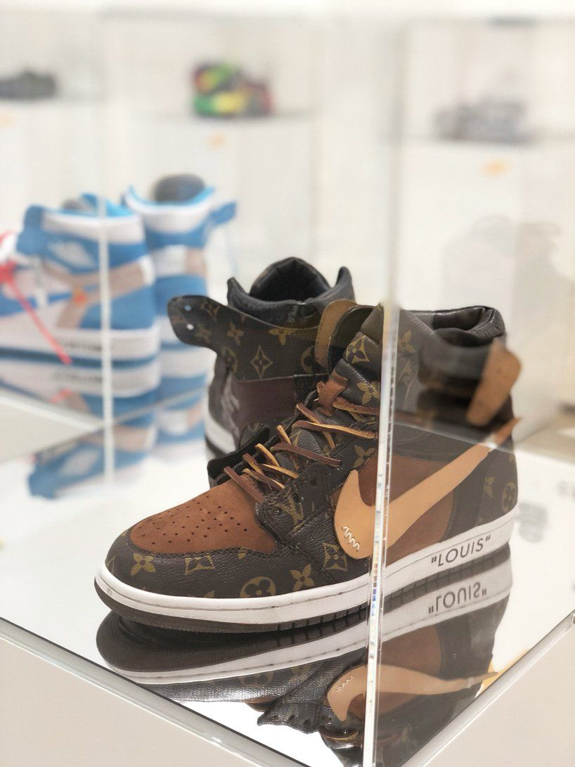 deconstructed sneakers exhibition in seoul displays exploded